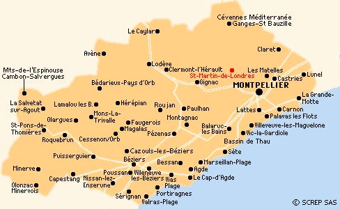 carte de l herault
